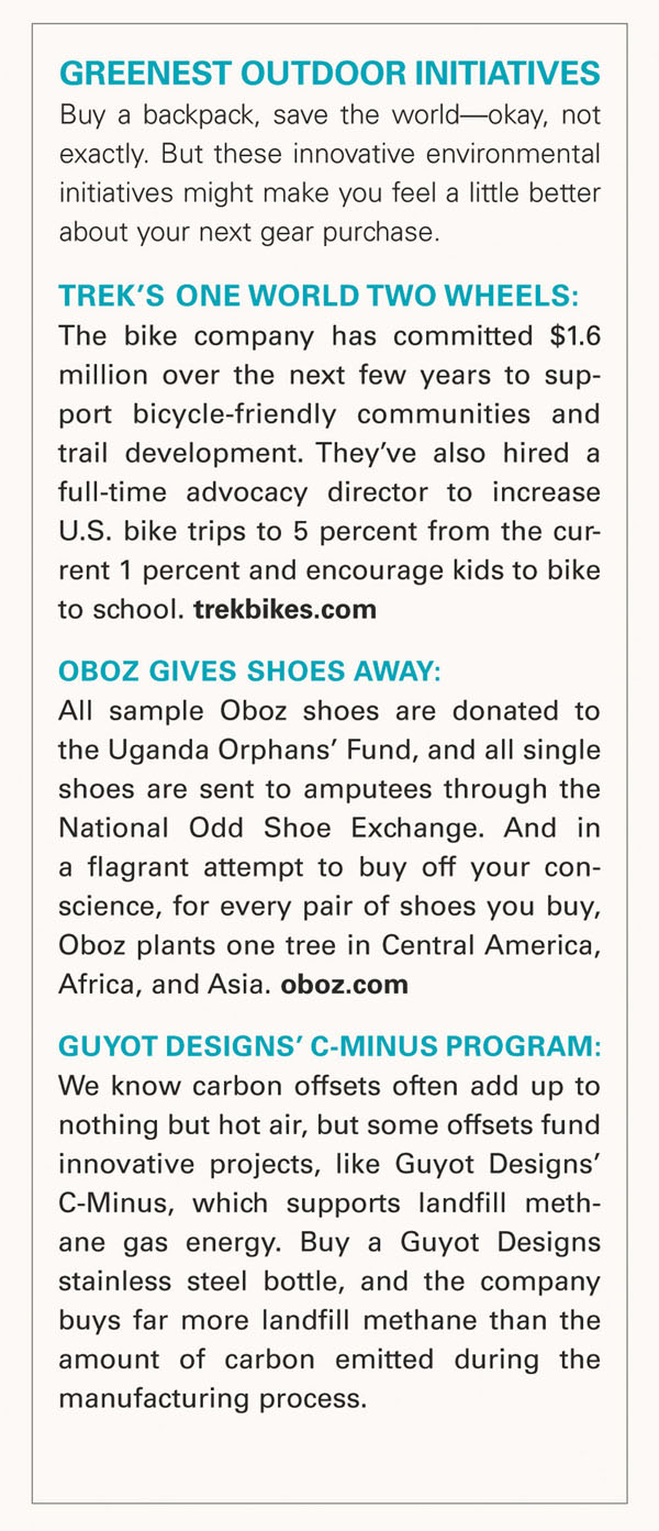 Greenest Outdoor Initiatives