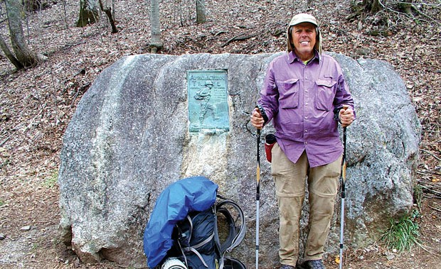 Russ Anderson at the southern terminus of the Appalachian Trail