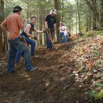 Trail work in the summer... Photo: Cumberland Trail Conference