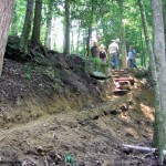 If you build it, they will come: Volunteers build the New River segment of the Cumberland Trail. Photo: Cumberland Trail Conference