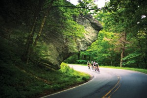 Blue Ridge Parkway peleton. Photo: Patrick Cavan Brown