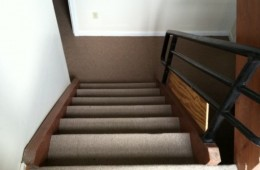 The offending office stairwell