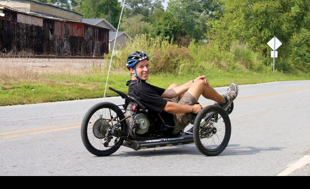 An electric recumbent bike for cool kids