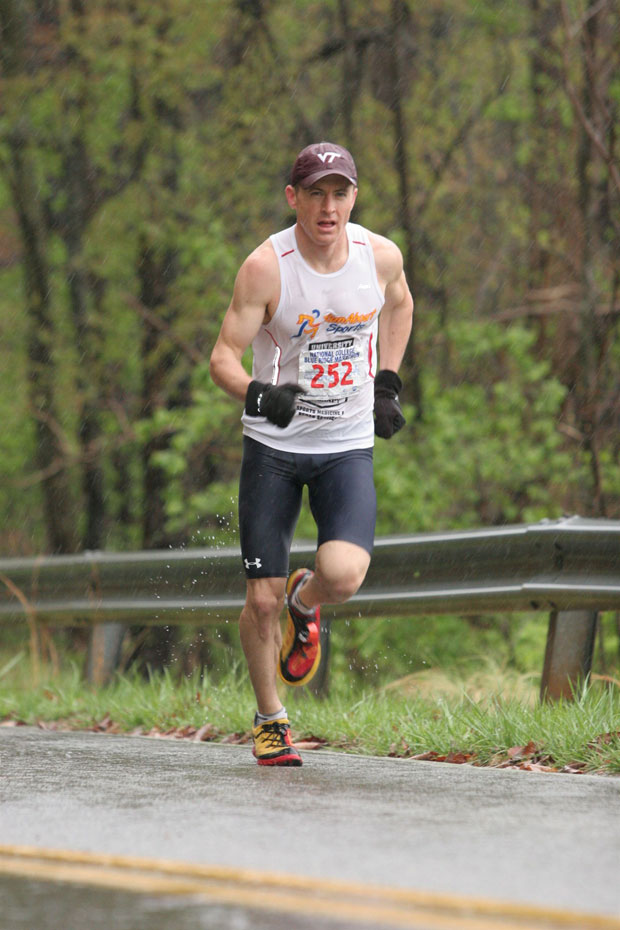 Tim Sykes placed second at the Blue Ridge Marathon in Roanoke, Va., last April.