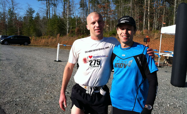 Mark Lundblad and Will Harlan following the Table Rock 50 Mile ultra race