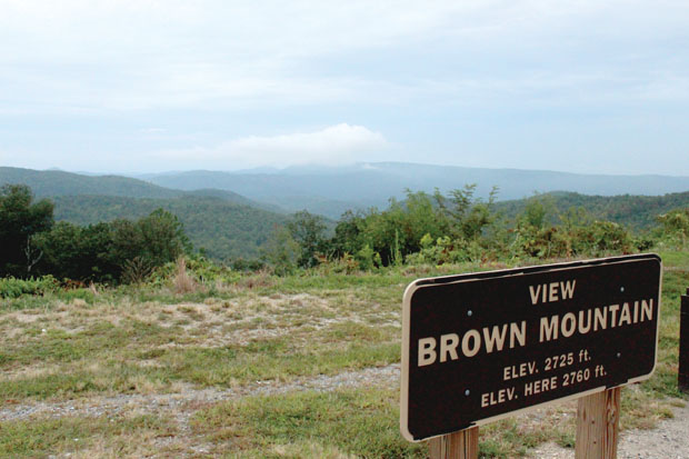 The view of Brown Mountain