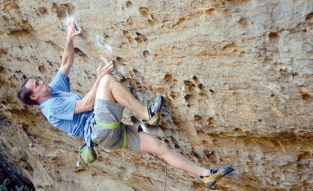 Adam Taylor climbed the South's toughest route in Red River Gorge, KY.