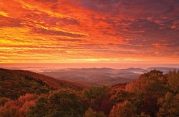 Sunrise over the proposed Grandfather National Scenic Area