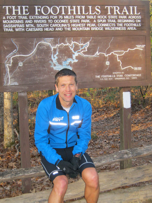 Mark at the end of his Cherokee Foothills Trail