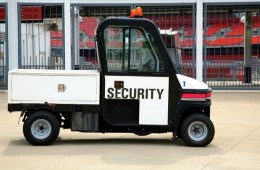 Security Vehicle At Football Stadium