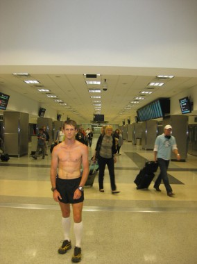 Running in an Airport