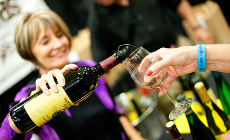 Pour me another. Photo courtesy Asheville Food & Wine Festival.