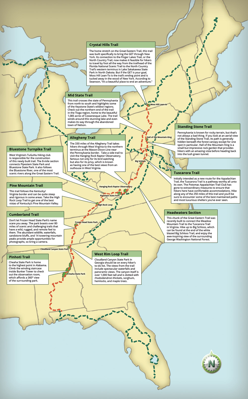 The Great Eastern Trail Could Become The New Appalachian Trail - Appalachian trail new hampshire map