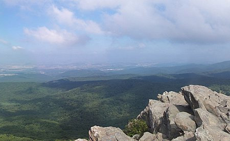 The view from Humpback Rock, near the overlook where the accident occurred.