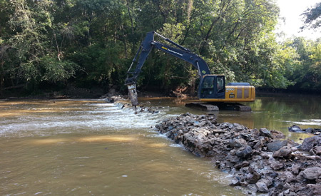Lassiter Dam being removed. Photo: courtesy USFWS/Southeast