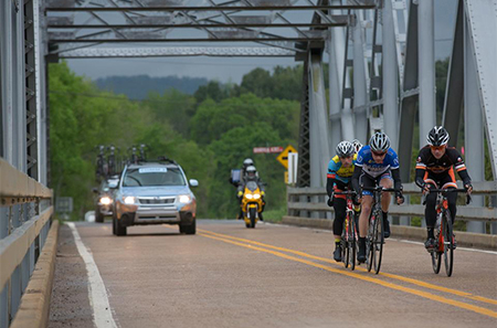 In this photo four riders escaped from the main group early on. Our group of four gained an advantage of more than four minutes. In the closing miles, after more than 70 miles up the road, we were caught and re shifted our focus to help our sprinters.
