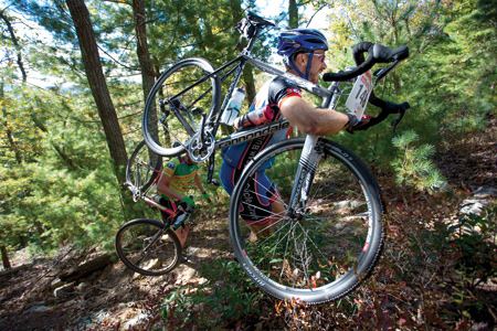 Mountain bikers in the Trans-Sylvania Epic Stage Race ride singletrack for seven days of pure hill.