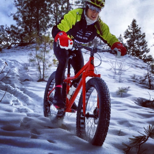 Elevation Outdoors contributor and professional mountain bike racer Sonya Looney is a fat bike convert.