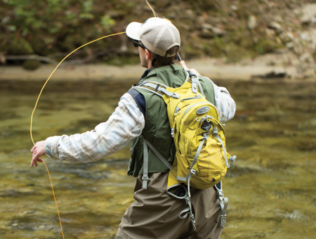 A FLY ANGLER EXPLORES WILSON CREEK IN NORTH CAROLINA'S HIGH COUNTRY.