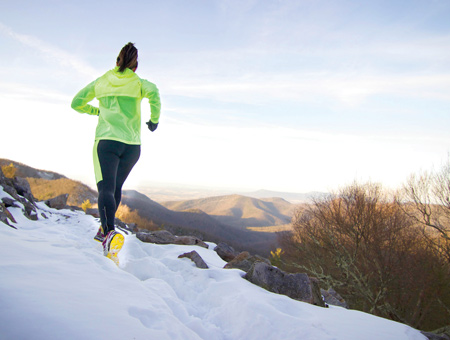 Romano used the trail systems in the Shenandoah National Park and surrounding Blue Ridge Mountains to train for her record-setting run.