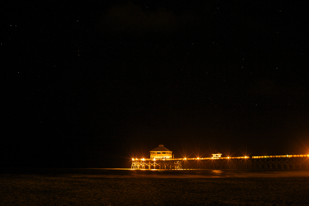 Nighttime at the pier.