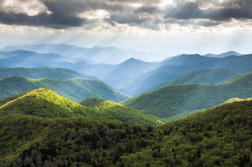 Blue Ridge Parkway Western North Carolina Scenic Landscape