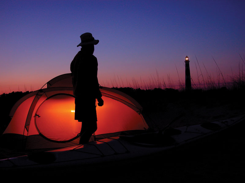 Cape Lookout Kayak Camping