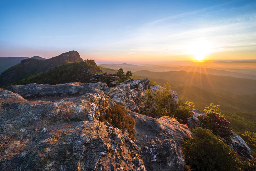 Linville Gorge Chimneys Sunrise