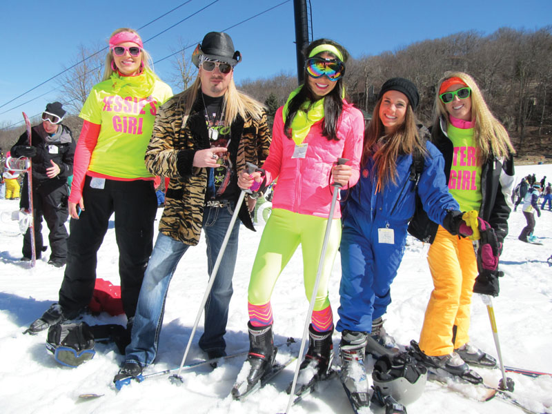 The brighter the neon the better at Beech Mountain Resort's Totally '80s Retro Weekend.