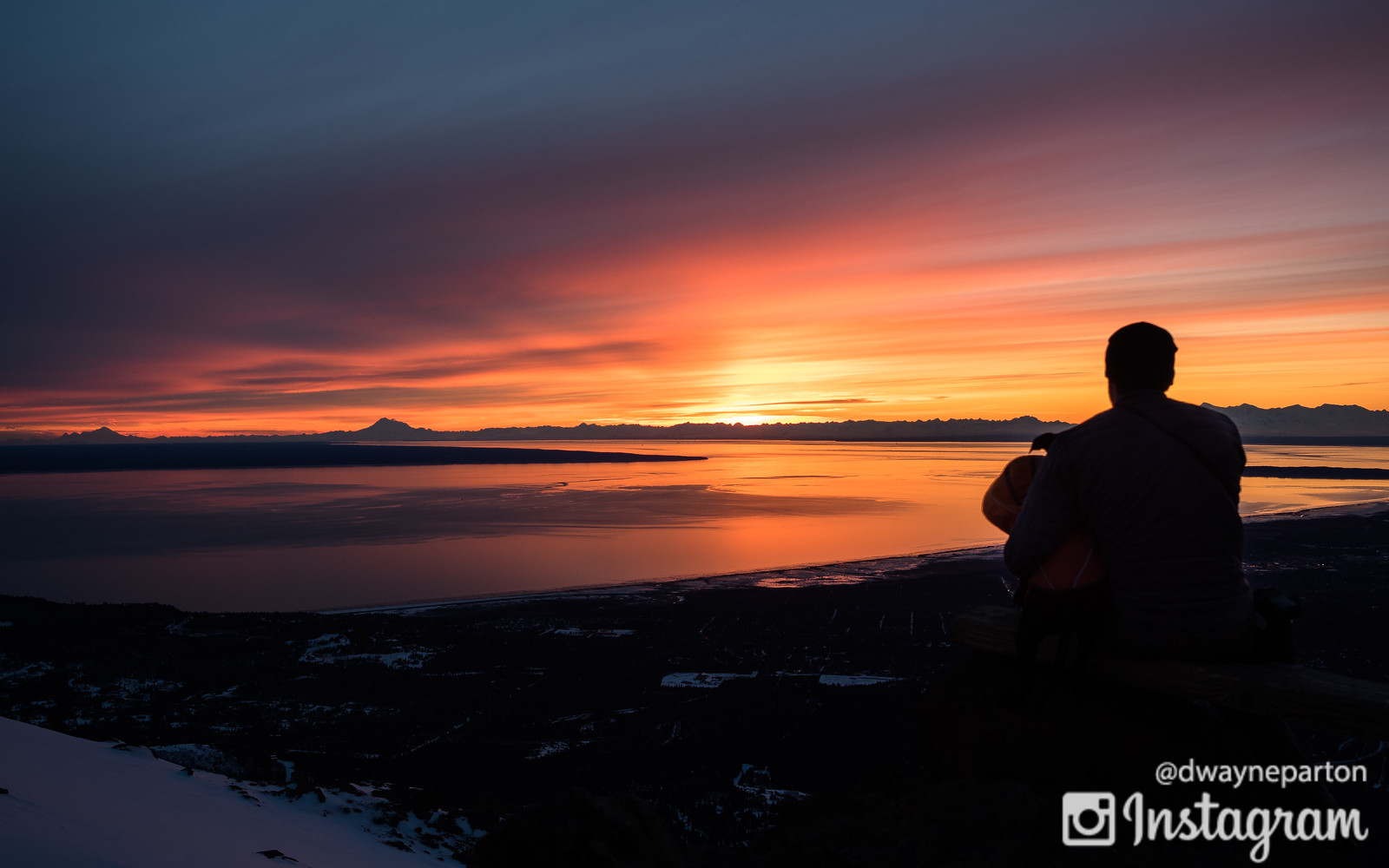 Sunset on Flattop in Anchorage Alaska