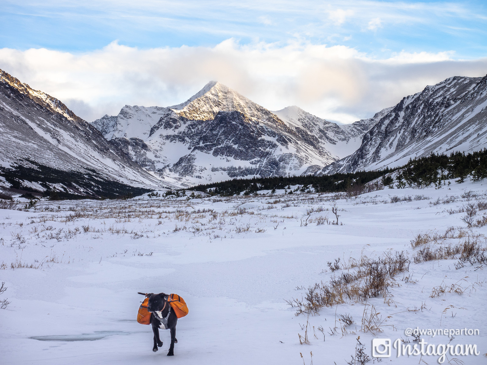 Snowshoeing on the Williwaw Lakes Trail, Anchorage, Alaska, Chugach Mountains