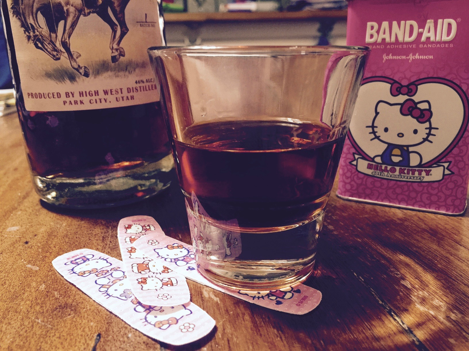 whiskey and bandaids