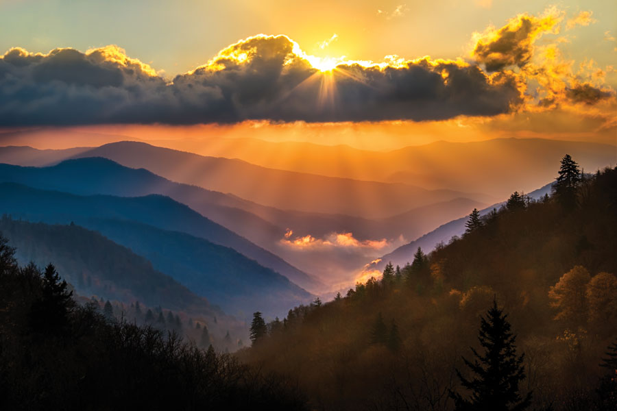 Oconaluftee overlook, Great Smoky Mountains National Park, Fall 2014