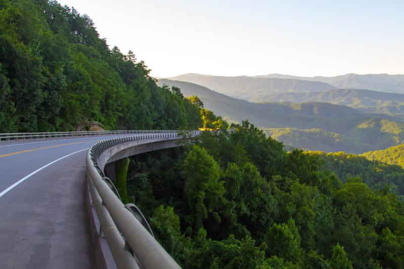 Foothills Parkway in Great Smoky Mountains National Park