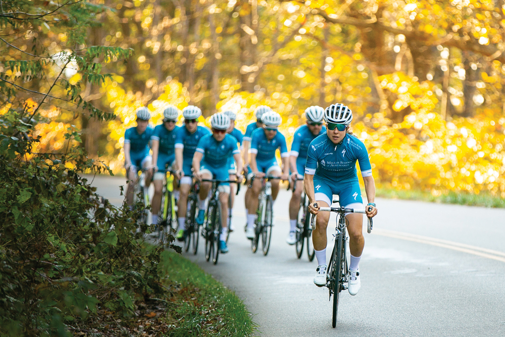 coach Andrea dvorak leads the miller school albemarle s cycling team on a  training ride on the blue ridge parkway. 208d558ab