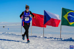 Susannah Gill sets new women's world record for 7 marathons in 7 continents in 7 days