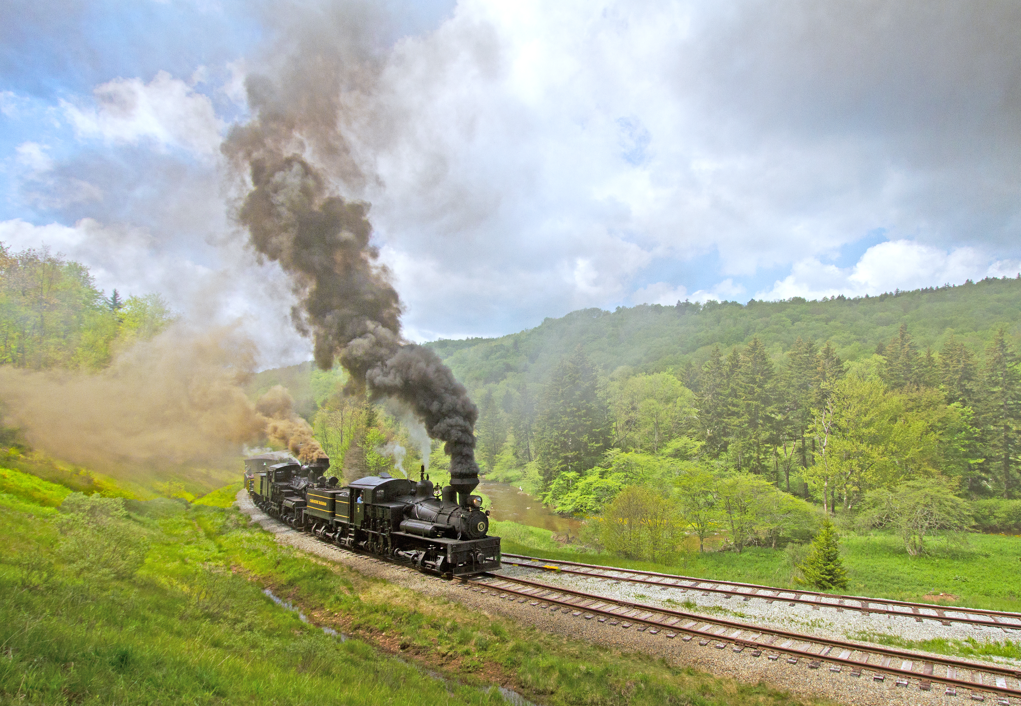 West Virginia. By Rail.
