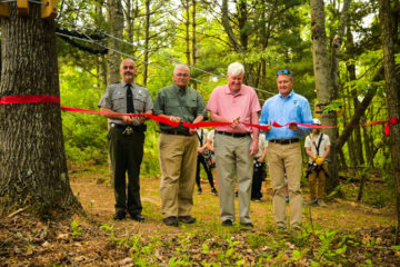West Virginia State Parks celebrates grand opening of Pipestem Peaks Zipline tour at Pipestem Resort State Park