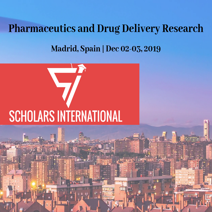 Scholars International Conference on Pharmaceutics and Drug Delivery Research