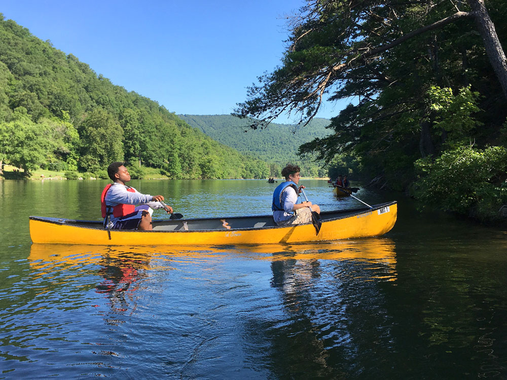 Canoe paddling at Hungry Mother State park (Virginia State Parks)