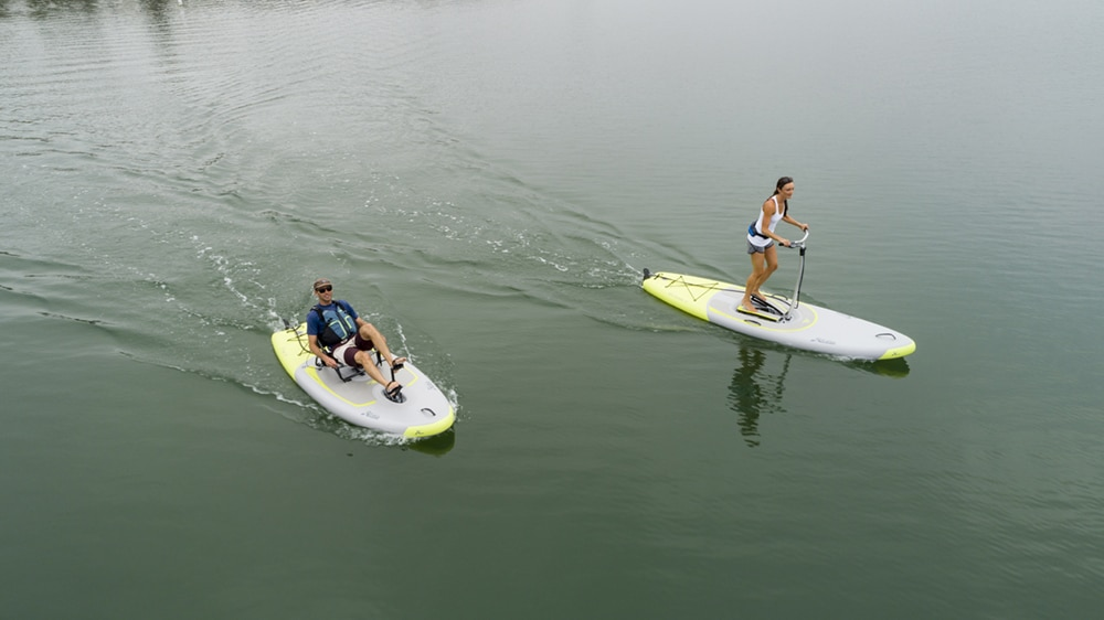 hobie ieclipse pedal-powered stand up paddleboard