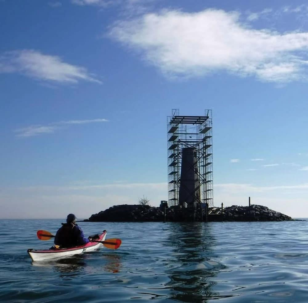 Kayaking near the New Point Comfort Lighthouse Restoration Project