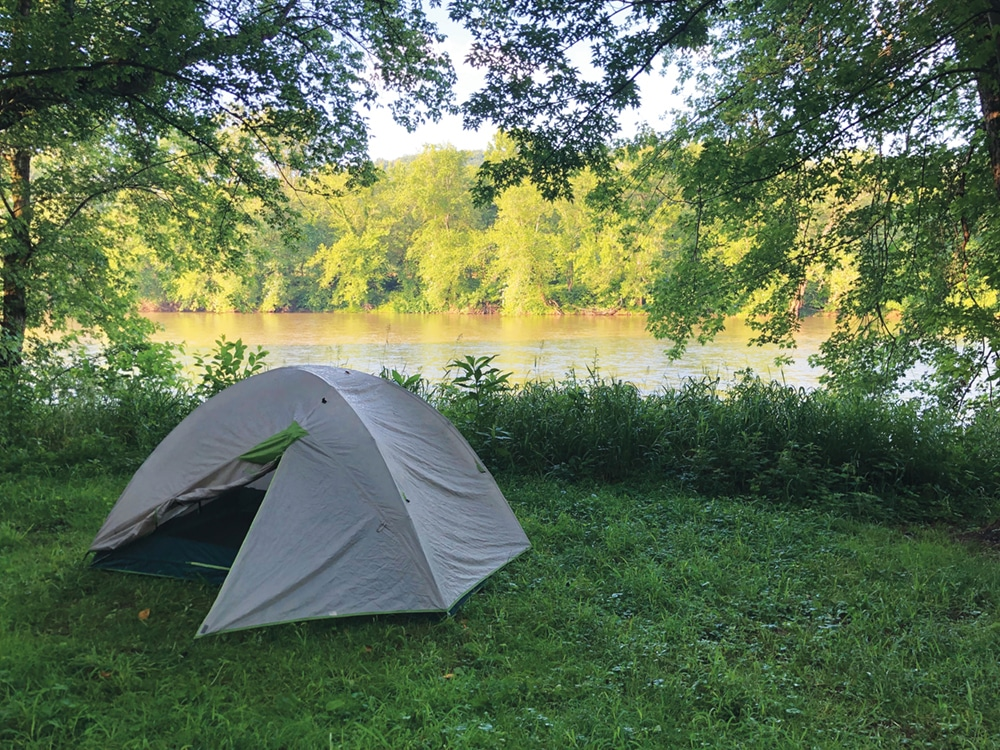 campsite along the C&O canal