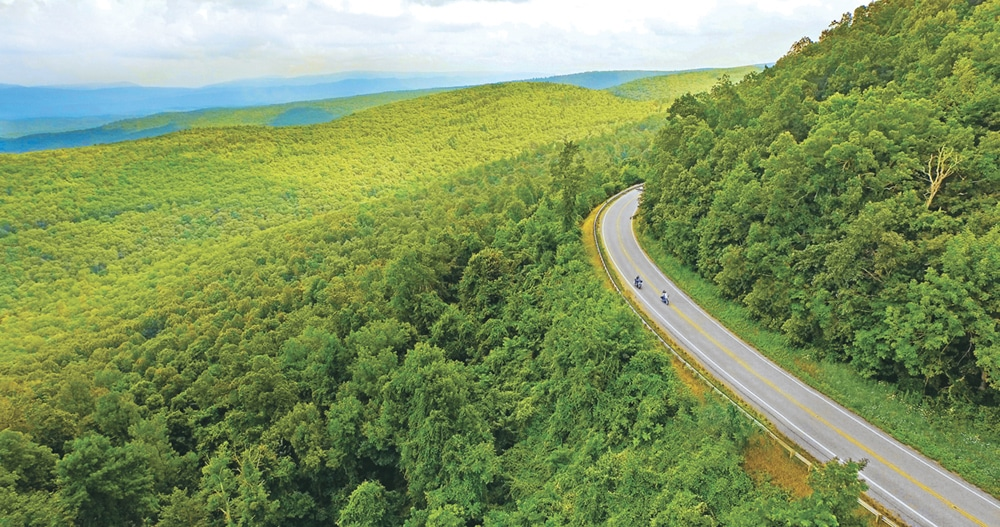motorcycle road trips in bath county