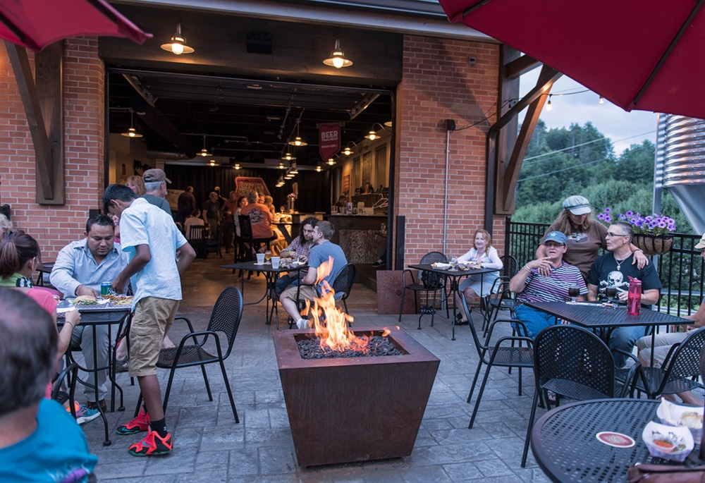 Craft beer on the patio