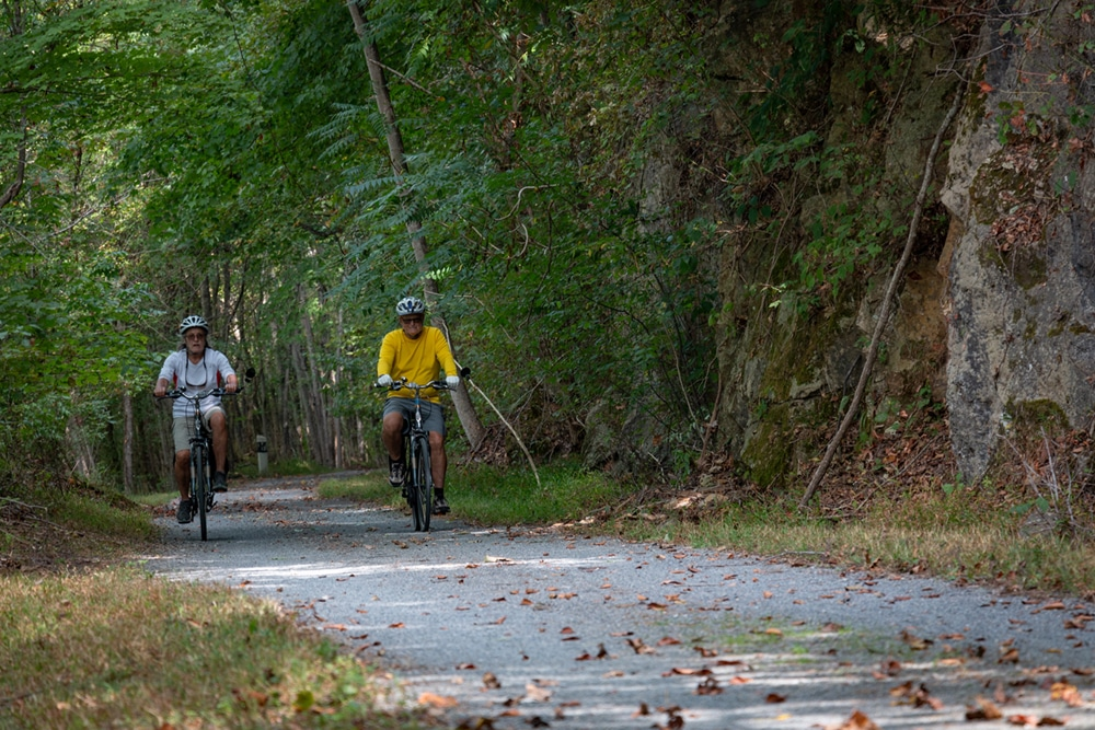 bikers on the new river trail