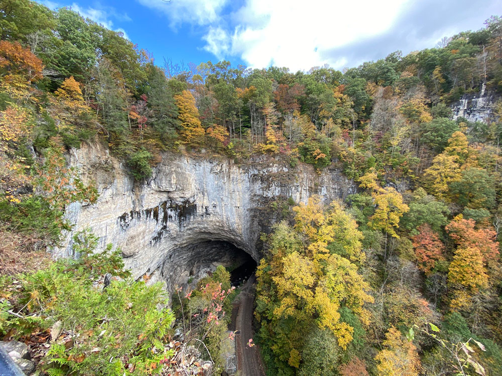 natural tunnel state park in the fall